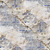 wall with cracks seamless texture with fissure