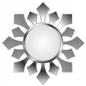 Metallic abstract logo shape. Vector design