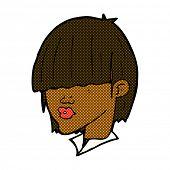 retro comic book style cartoon fashion haircut