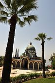 foto of beatitudes  - Roman Catholic chapel at Mount of Beatitudes near Lake Kinneret Israel - JPG