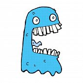 foto of grossed out  - retro comic book style cartoon gross ghost - JPG