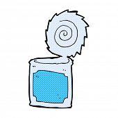 retro comic book style cartoon open tin can