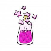 retro comic book style cartoon magic potion