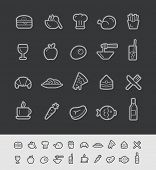 Food and Drinks Icons - Set 1 of 2 // Black Line Series -- EPS 10+ Contain Transparencies