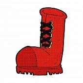 retro comic book style cartoon old work boot
