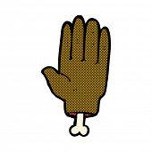 retro comic book style cartoon severed hand