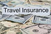 Travel Insurance Text On Piece Of Paper