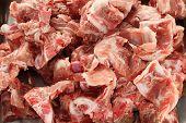 pork spine for gamjatang(pork bone and potato soup, korean hotpot cuisine)