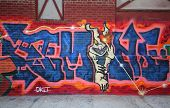 Graffiti art at East Williamsburg in Brooklyn