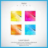 Shiny button, vector