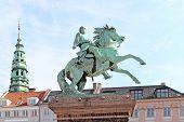 Denmark. Copenhagen. Statue of Absalon