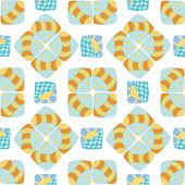 pattern of stripes and circles