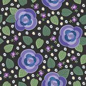 Lovely Pansy Seamless Pattern