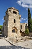 pic of filerimos  - Church of our Lady at Ialyssos monastery on the Greek island of Rhodes is built at the top of Mount Filerimos - JPG