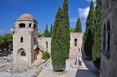 stock photo of filerimos  - Church of our Lady at Ialyssos monastery on the Greek island of Rhodes - JPG