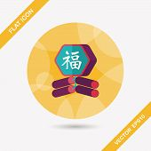 pic of chinese crackers  - Chinese New Year Flat Icon - JPG