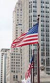 American Flags In Chicago