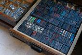 Vintage Wooden Printing Press Letters