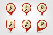 Currant Mapping Pins Icons