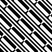 Seamless Diagonal Stripe Pattern. Vector Black and White Background