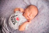 Newborn little baby sleeping