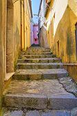 Alleyway. Viggianello. Basilicata. Italy.