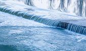 Water Texture River. Little Waterfalls