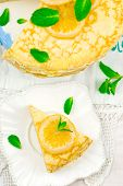 pic of curd  - blinis pie with the lemon curd - JPG