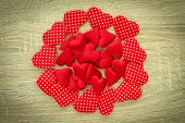 Red Hearts Pile