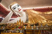 stock photo of recliner  - Chauk htat gyi reclining buddha  - JPG