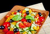 Healthy vegetarian salad isolated