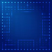 image of processor  - Abstract background in blue colors in the style of a computer processor vector - JPG
