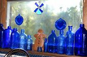 Blue Bottles with Gingerbread