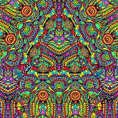 pic of psychedelic  - Hand drawn abstract background ornament illustration psychedelic - JPG