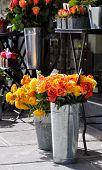 Orange roses at a florist