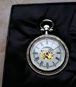 The Silver Pocket Watch With The Case