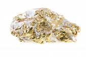 Pyrite Yellow Isolated On White Background
