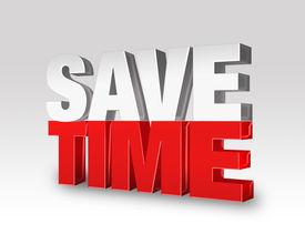 stock photo of time-saving  - 3d rendered illustration on a light white - JPG
