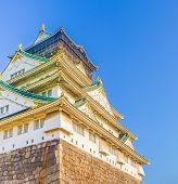pic of shogun  - image of Osaka Castle Osaka Japan . ** Note: Soft Focus at 100%, best at smaller sizes - JPG
