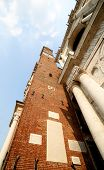 picture of vicenza  - high clock tower of the Palladian Basilica in Vicenza city - JPG