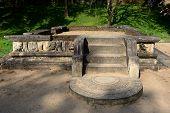 image of vihara  - Polonnaruwa ruin was the second capital of Sri Lanka after the destruction of Polonnaruwa - JPG