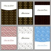 pic of bridal shower  - Set of beautiful vector card templates - JPG