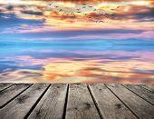 image of pier a lake  - pier in the lake - JPG