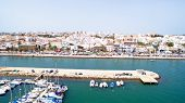 stock photo of lagos  - Aerial from the harbor in Lagos Portugal - JPG