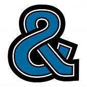 pic of ampersand  - A vector illustration of an ampersand icon - JPG