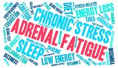 picture of dizziness  - Adrenal fatigue word cloud on a white background - JPG