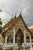 pic of buddhist  - A buddhist temple situated in the city of Phetchaburi in Thailand - JPG