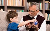 picture of psychologist  - Little boy talking with psychologist - JPG