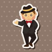 stock photo of private detective  - Detective Theme Elements - JPG