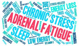 image of fatigue  - Adrenal fatigue word cloud on a white background - JPG